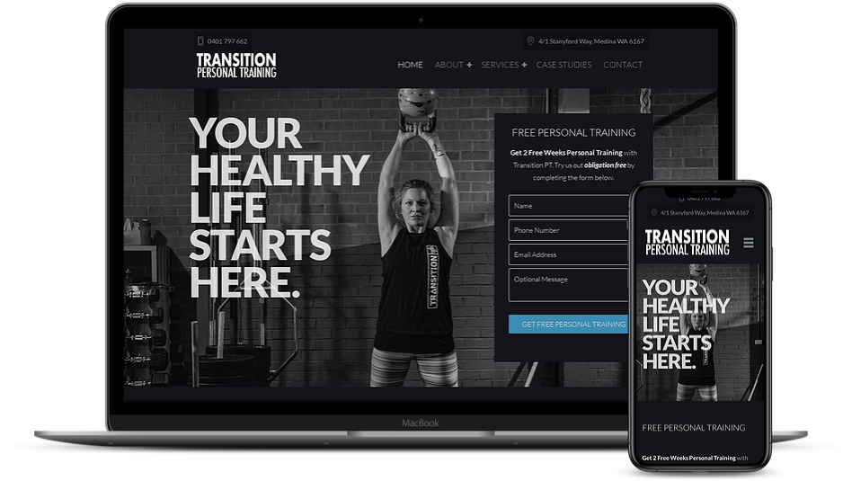 Transition Personal Training Website